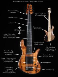 Damian Coccio custom 6 string fodera emperor